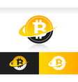 Swoosh Bitcoin Logo Icon