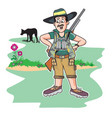 safari hunter vector image