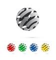 Set of logo globe icon elements vector image