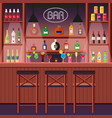 bar pub or night club bar counter with alcoholic vector image