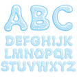 alphabet of soda water vector image