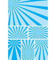 blue backgrounds with radial rays - set vector image