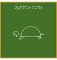 of zoology symbol on turtle vector image