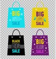 advertising shopping bags big summer sale vector image vector image