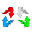 arrows hand drawn sketch vector image vector image