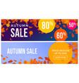 autumn sale text banner september shopping promo vector image vector image