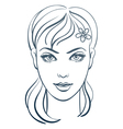 beautiful woman portrait linear vector image vector image