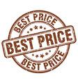 best price brown grunge round vintage rubber stamp vector image
