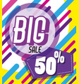 big sale memphis style poster vector image