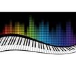 black piano template vector image vector image