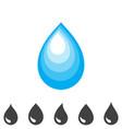 blue drop icon vector image
