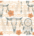 Boho seamless pattern with dreamcatchers and vector image vector image