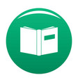 book inverted icon green vector image vector image