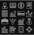 business money and management icons set line vector image vector image