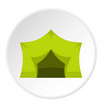 camping equipment icon circle vector image vector image