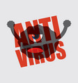cartoon anti virus character vector image vector image