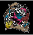 character break dance music panda vector image