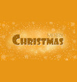 christmas gold background merry vector image