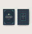 christmas greeting card design template vector image