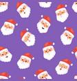 christmas santa claus head emotion faces vector image
