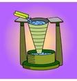 Clepsydra pop art vector image vector image