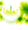 colorful mosque design vector image vector image