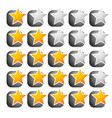 cool star rating vector image vector image