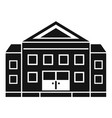 courthouse building icon simple style vector image vector image