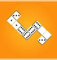 creative realistic dominoes vector image vector image