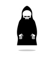 Death cloak hovers above ground Grim Reaper in vector image vector image