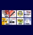 design social media banners design advertising vector image