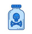 drug line icon vector image vector image
