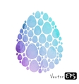 Easter egg from small eggs of watercolor texture vector image vector image