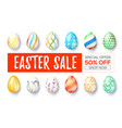 easter sale ad banner with design handwritten vector image vector image