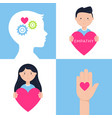 emotional intelligence empathy and mental health vector image