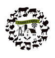farm and farming icons and design elements vector image
