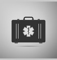 first aid box and medical symbol star of life icon vector image vector image