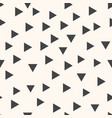 geometric pattern with grey triangles seamless vector image vector image