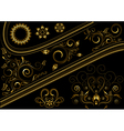 Gold border with pattern and details for design vector image vector image