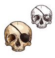 halloween sketch icon skull skeleton vector image vector image