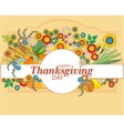 Happy Thanksgiving card with autumn leaves vector image vector image