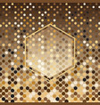 hexagon gold halftone abstract background vector image