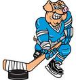 hog hockey logo mascot vector image vector image