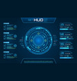 hud ui futuristic and infographic elements vector image vector image
