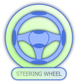 icons and symbols of car parts - steering wheel vector image vector image
