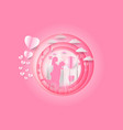 ill of love and valentine day heart and balloon vector image vector image