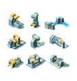 industry machines machinery production working vector image