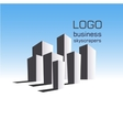 Logo business building vector image