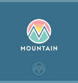 m logo mountain equipment climbing vector image