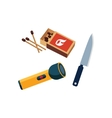 Matches Lamp And Knife vector image vector image